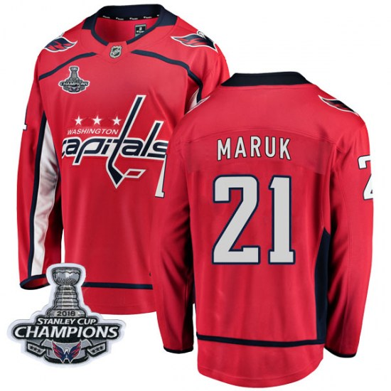 Dennis Maruk Washington Capitals Youth Breakaway Home 2018 Stanley Cup Champions Patch Fanatics Branded Jersey - Red