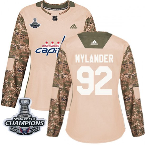 Michael Nylander Washington Capitals Women's Authentic Veterans Day Practice 2018 Stanley Cup Champions Patch Adidas Jersey - Ca