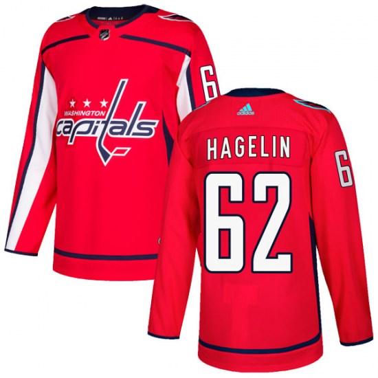 Carl Hagelin Washington Capitals Authentic Home Adidas Jersey - Red
