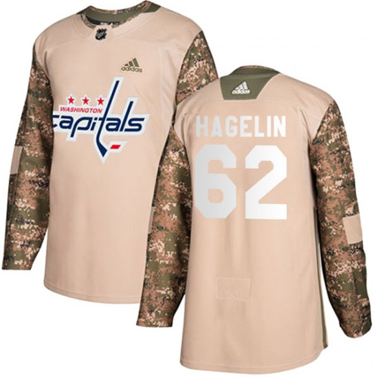 Carl Hagelin Washington Capitals Authentic Veterans Day Practice Adidas Jersey - Camo